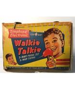 Vintage Zimphone Electronic Walkie Talkie Toy Set with Box - $40.00
