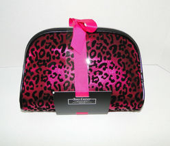 Juicy Couture Leopard Pink & Black Cosmetic Travel Case Set image 4