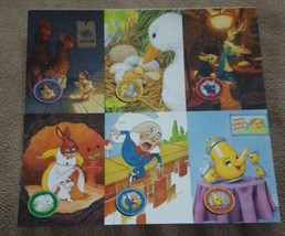 "Fleer Holidays 1995 Fantasy Art Uncut Promo Sheet 7.25"" X 8"" - $1.00"