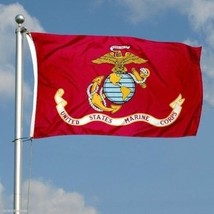 G128 - USMC US Marine Corps Flag 3x5 Ft Printed United States Marine Cor... - $17.87
