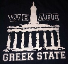 """Men's XL Extra-Large Penn State """"We Are Greek State"""" Blue Longsleeve T-S... - $9.00"""