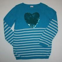 Gymboree Fancy Dalmatian Sequin Heart Stripe Sweater size 5 6 - $12.99