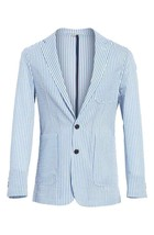 Burberry Serpentine Seersucker Blazer Sports Coat Jacket Size 48R - $148.49