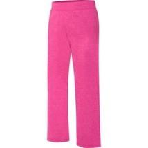 Hanes Girls Fleece Open Leg Sweat Pants Size X-Small 4-5 Fuchsia NEW - $10.88