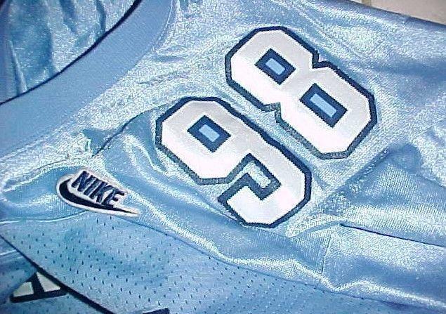 Lawrence Taylor #58 North Carolina Tar Heels NCAA ACC Blue Throwbacks Jersey XL image 6