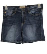 Dear John Womens Shorts Size 26 Light Wash Low Rise Stretch Denim Casual... - $14.78