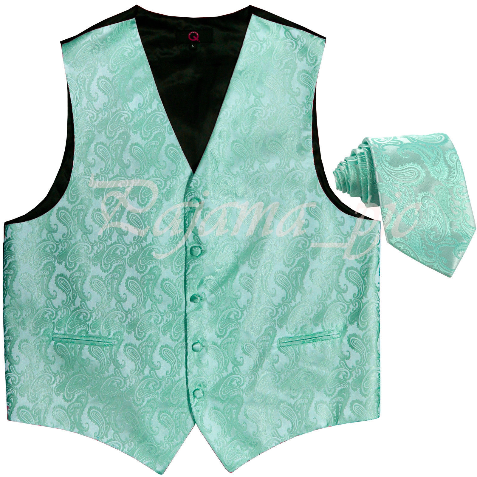 Aqua Mint Green XS to 6XL Paisley Tuxedo and similar items