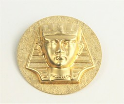 VINTAGE Jewelry FIGURAL EGYPTIAN REVIVAL KING TUT HIGH RELIEF BROOCH  - $25.00