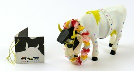 Cow Parade Rock-N-Roll Cow with Original Tag, 2001 Collectible, #9137  - $29.69