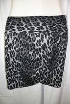Lane Bryant Plus Size 26 Gray Black Leopard Print Faux Wrap Knit Pencil ... - $38.61