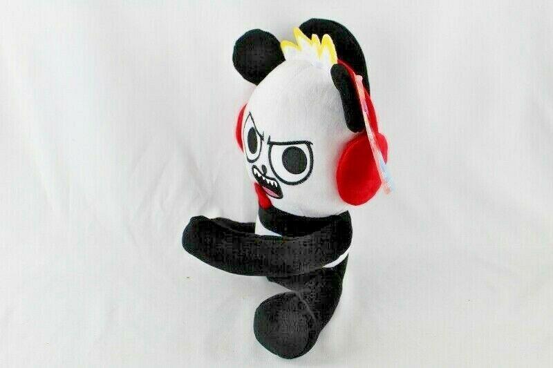 "Ryans World 10"" Plush Panda New With Tags Black White Red Pocket Watch  image 2"