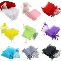 1000pc Organza Gift Bags Jewelry Drawstring Bags Wedding Favors Bags Mes... - $47.49