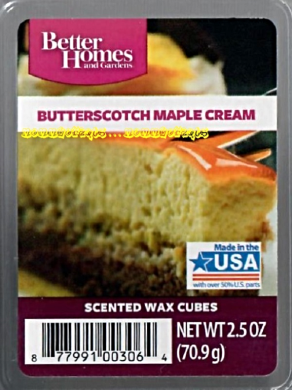 Butterscotch maple cream better homes and gardens scented - Better homes and gardens scented wax cubes ...