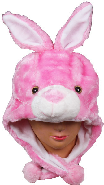 Case of [24] Kids' Pink Bunny Animal Winter Hats