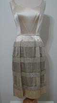 Vintage Bead Dress ECRU Hook & Eye Side Talon Gatsby Flapper  - $449.99