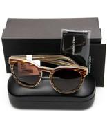 NEW D&G Dolce& Gabbana DG4285 3052/73 STRIPED HONEY /BROWN LENS SUNGLASS... - $163.33