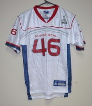 USED NFL INDIANAPOLIS SUPER BOWL #46 YOUTH LARGE REEBOK JERSEY PATRIOTS ... - €10,92 EUR