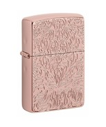 Gorgeous Deep Carved Armor Rose Gold Zippo Lighter - $61.70