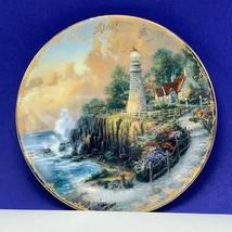 Thomas Kinkade collector plate Bradford Simpler time cottage April Light... - $18.25