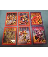 LOT OF 6 1993 SKYBOX UNCANNY X-MEN SERIES  II GOLD FOIL 30 YEARS - $8.00