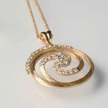 925 STERLING SILVER NECKLACE LAMINATED YELLOW GOLD,RHODIUM BY MARY JANE IELPO image 3