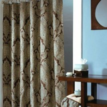 Croscill Royalton Luxury Paisley Espresso Brown Aqua Shower Curtain - $49.00