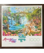 Buffalo 1000 Piece Jigsaw Puzzle-Majestic Tiger Grotto-Aimee Stewart Col... - $12.82
