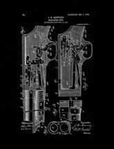 Stevens 520 pump action Shotgun Patent Print - Black Matte - $7.95+