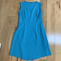 Elie Tahari Women's Dress Size 10 Blue Sleeveless Raw Hem - $24.74