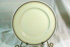 Hutschenreuther Gelb Turvel Shape Hut 374 Dinner Plate Gray Yellow Rust Bands - $10.74