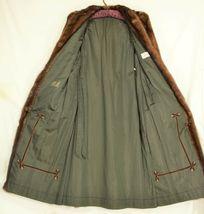 France Olivia mink fur coat FR 44 full length mahogany chic sophisticate brown image 5