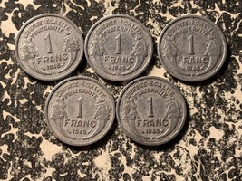 1945-B France 1 Franc (5 Available) Circulated (1 Coin Only) - $5.00