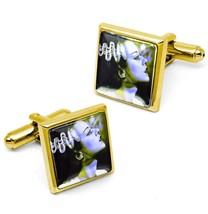 Gold Bride of Frankenstein Universal Horror Glass Halloween Cufflink Set... - $32.39