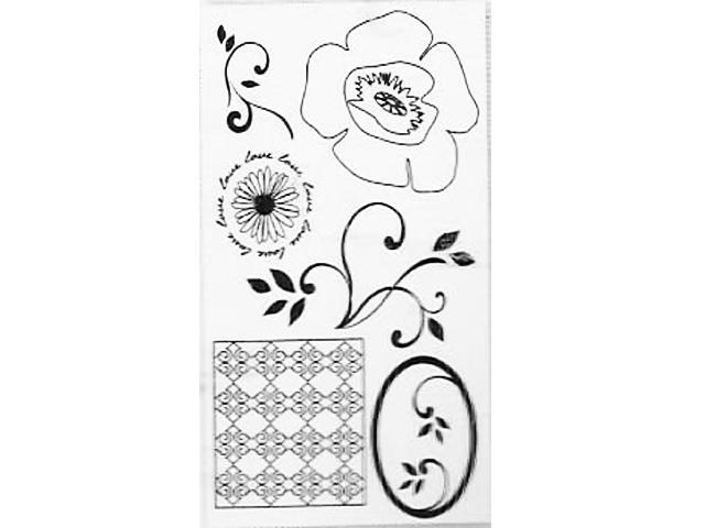 Autumn Leaves Pretty Poppies Clear Stamp Set #AL3350 - $6.99