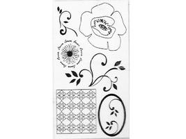 Autumn Leaves Pretty Poppies Clear Stamp Set #AL3350
