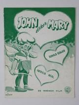 Ronald Reagan Patricia Neal Vintage John Loves Mary 1949 Danish Movie Pr... - $26.68