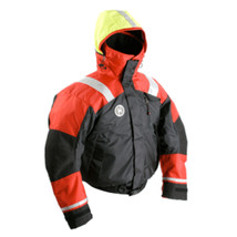 First Watch AB-1100 Flotation Bomber Jacket - Red/Black - Small - $239.62