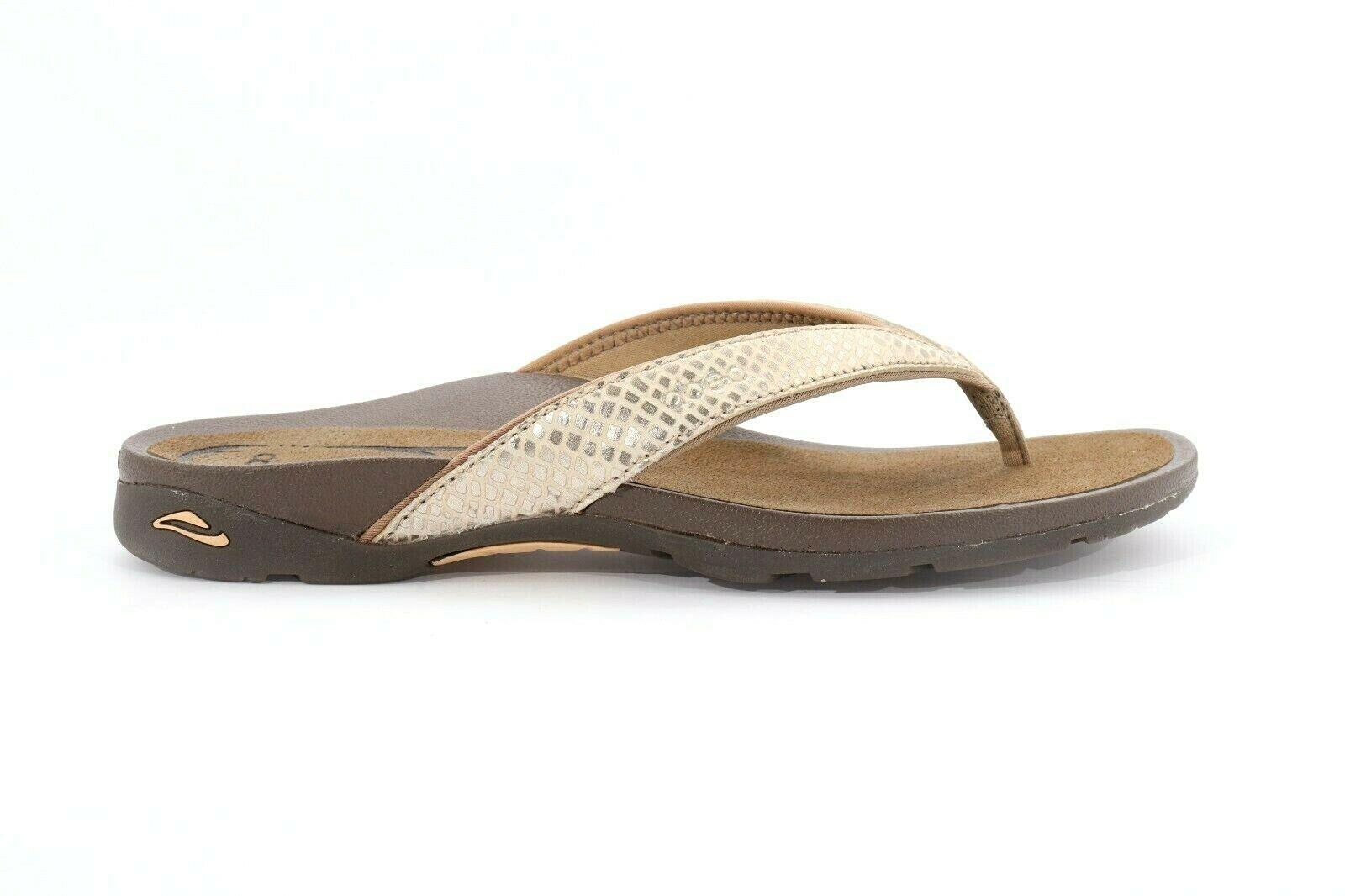 Abeo Alea Slides Gold Women's Size US 7  Neutral Footbed ( ) - $112.86