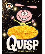 QUISP Space Custom 1970's Cereal Box Stand-Up Display - Quaker Retro Loo... - $15.99