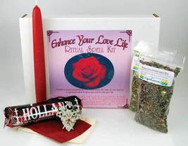 Enhance Your Love Life boxed ritual spell kit with instructions bring sp... - $23.99