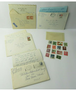 Lot of 20 Vintage US CANADA Postage Stamps Post 1961 to 1983 & 4 Old Let... - $15.00