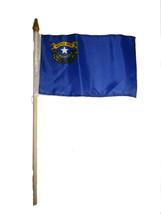 "6x9 6""x9"" State of Nevada Stick Flag wood Staff - $18.00"