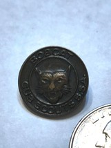 VINTAGE ROUND Bobcat Cub Scouts BSA Boy Scouts Of America Pin CLASP TYPE - $2.99