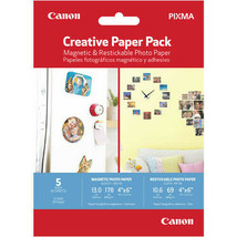 CANON Pixma Magnetic & Restickable Creative Photo Paper Pack of 5 Creative Paper - $8.99