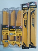 "3 X DEWALT 15pk 9"" 14-TPI, 6-TPI, etc. Metal Cutting Reciprocating Blade... - $70.08"