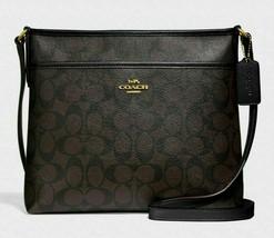 New Coach 29210 Signature File Bag Crossbody handbag Brown / Black - $88.00