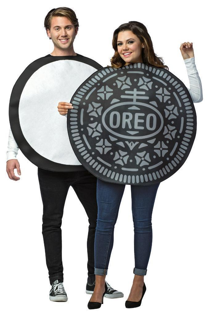 Oreo Cookie Couples Costume Tunic Food Sweet Halloween Party Unique GC3714