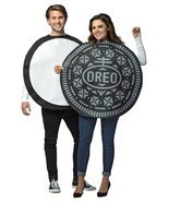 Oreo Cookie Couples Costume Tunic Food Sweet Halloween Party Unique GC3714 - ₹4,653.93 INR