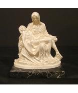 "G Ruggeri Bianchi Pieta Mary/Jesus-Michelangelo Resin Marble 8""H Signed ... - $12.99"
