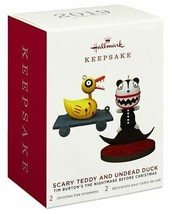 Hallmark  Scary Teddy Undead Duck Nightmare Before Christmas  Keepsake O... - $30.65